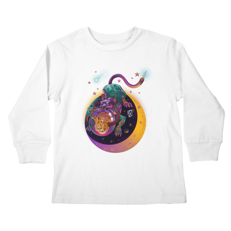 Moon Tiger Kids Longsleeve T-Shirt by koi's Artist Shop