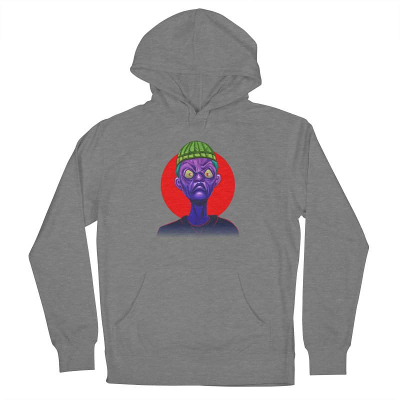 Grumpy Ghoul Women's French Terry Pullover Hoody by koi's Artist Shop