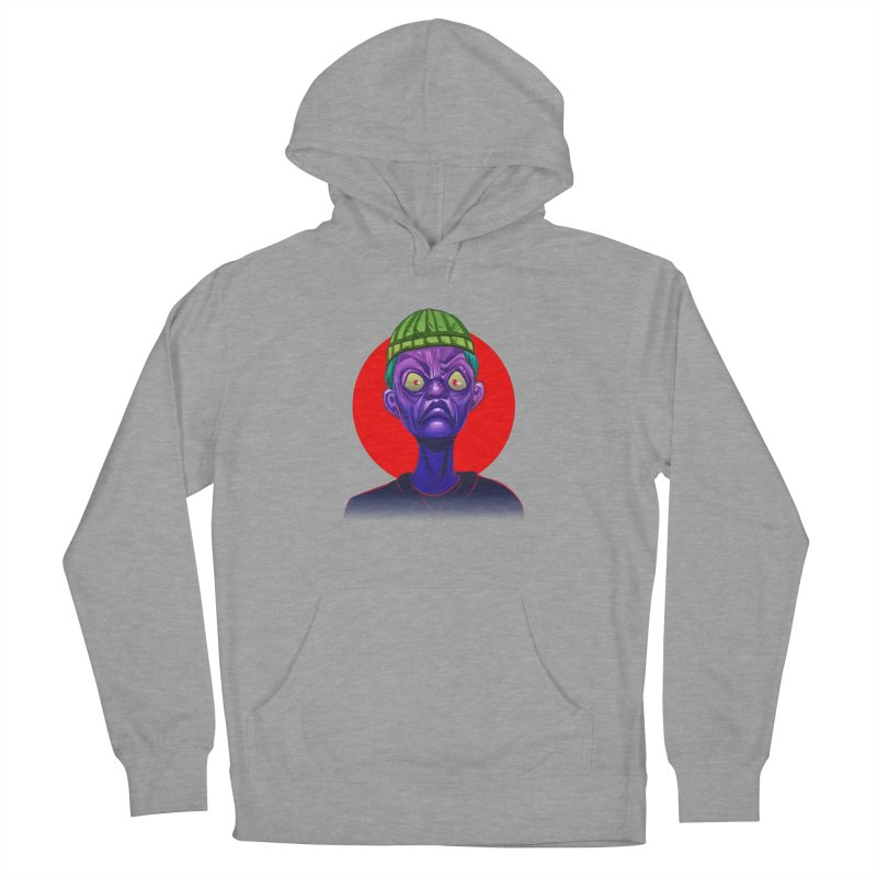 Grumpy Ghoul Men's French Terry Pullover Hoody by koi's Artist Shop