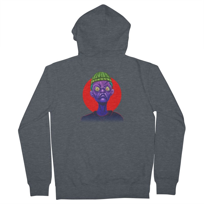 Grumpy Ghoul Women's French Terry Zip-Up Hoody by koi's Artist Shop