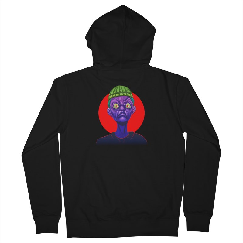 Grumpy Ghoul Men's French Terry Zip-Up Hoody by koi's Artist Shop