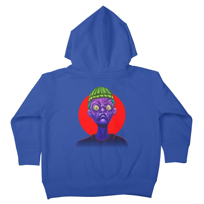 Grumpy Ghoul Kids Toddler Zip-Up Hoody by koi's Artist Shop