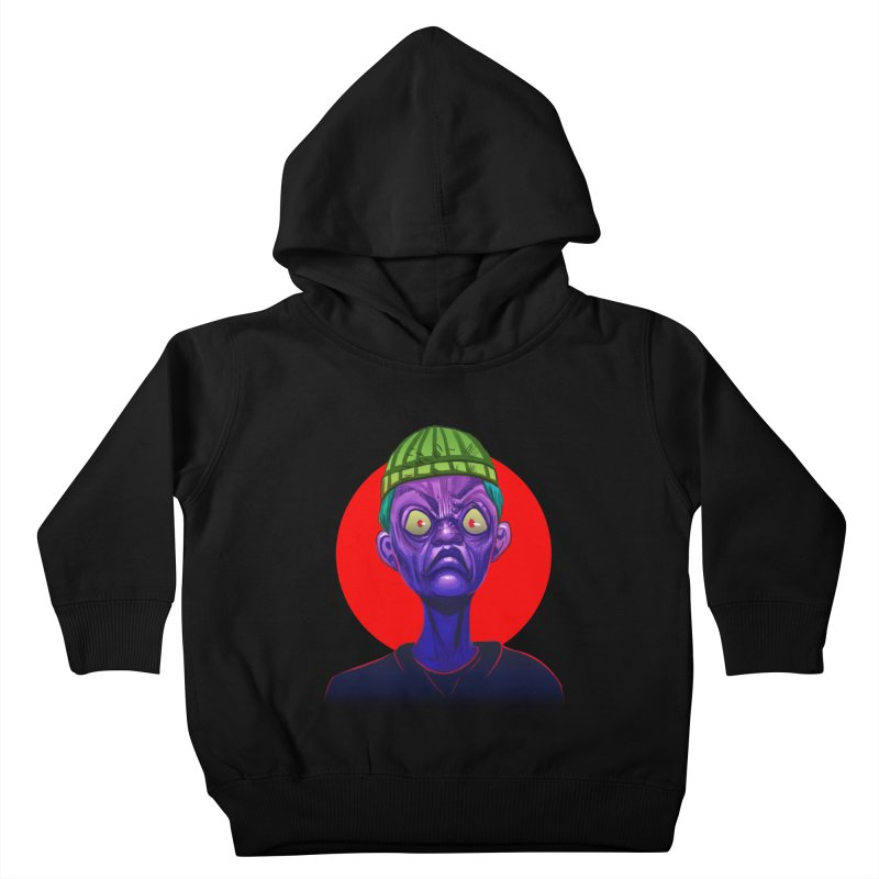 Grumpy Ghoul Kids Toddler Pullover Hoody by koi's Artist Shop