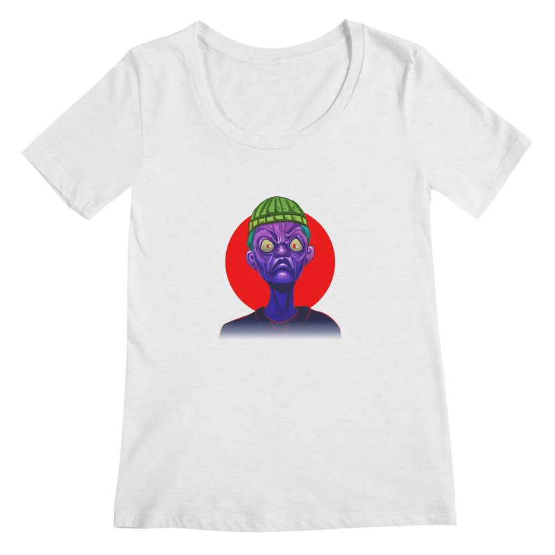 Grumpy Ghoul Women's Regular Scoop Neck by koi's Artist Shop