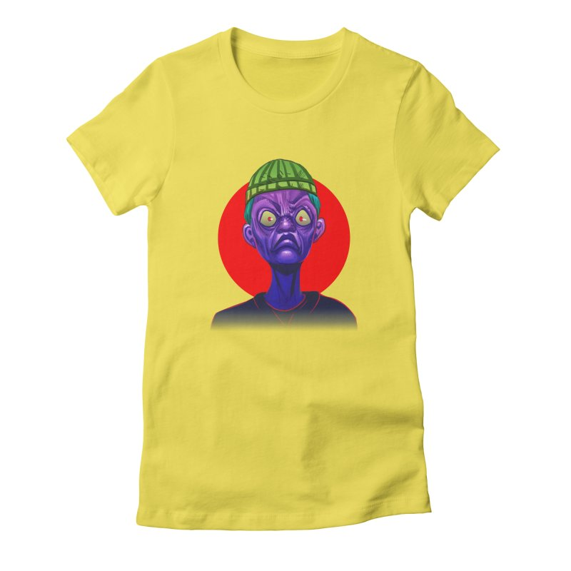Grumpy Ghoul Women's Fitted T-Shirt by koi's Artist Shop
