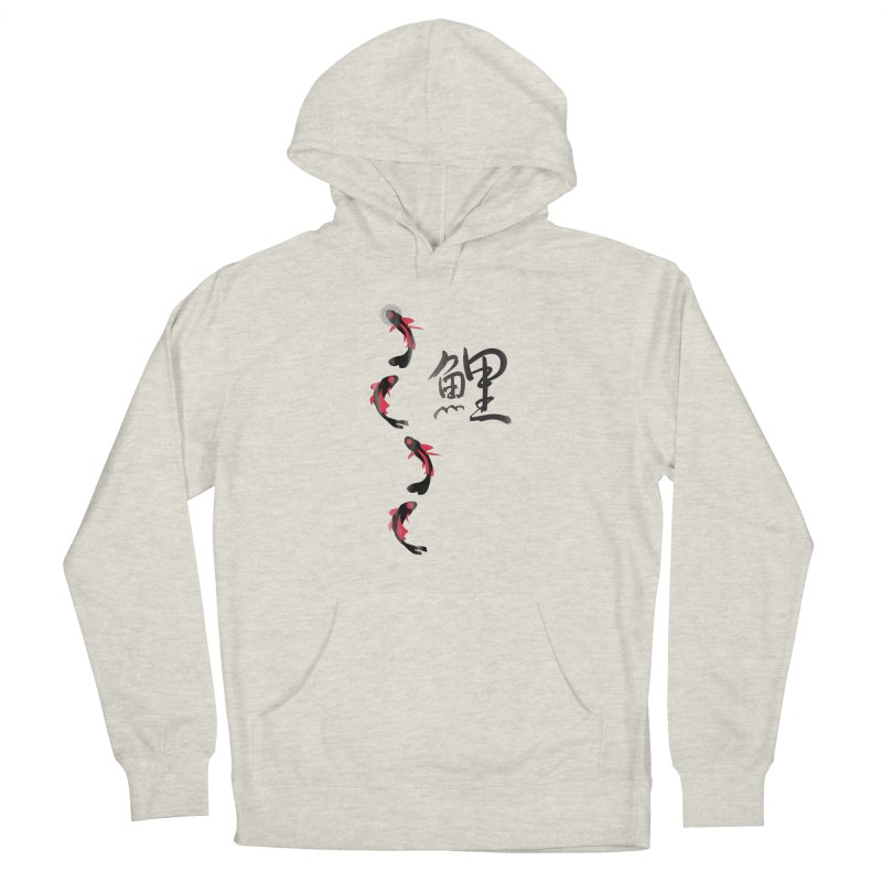 Koi Fish with Japanese Kanji Women's French Terry Pullover Hoody by koi's Artist Shop