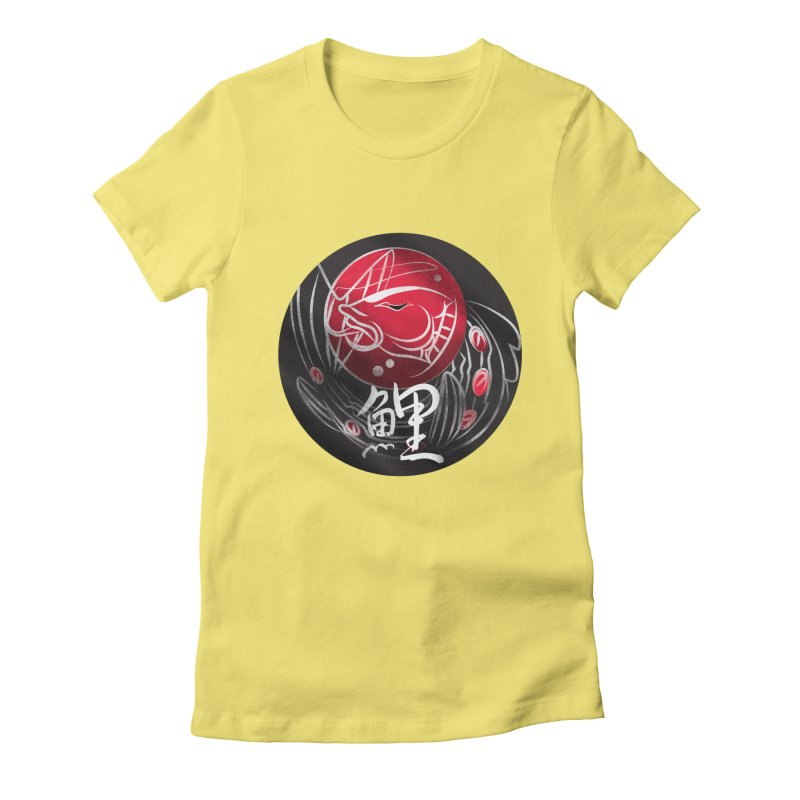 Koi out of water Women's Fitted T-Shirt by koi's Artist Shop