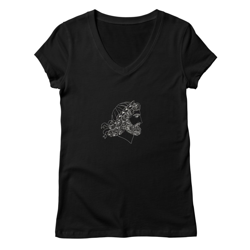 Zeus Women's V-Neck by kolovrat's Artist Shop