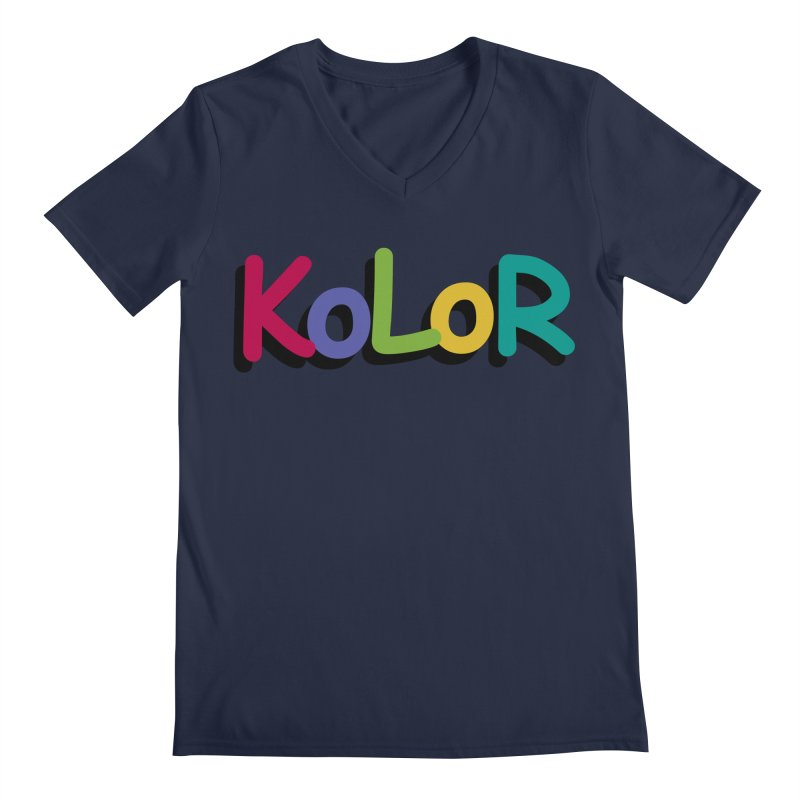 KoLoR Men's Regular V-Neck by Kong Klothing