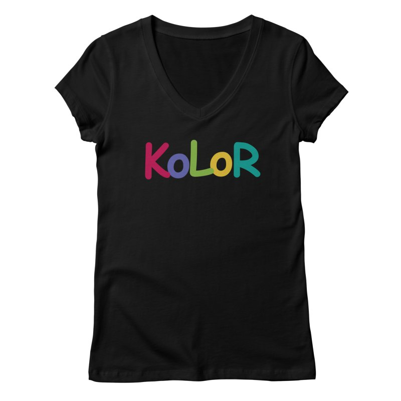 KoLoR Women's V-Neck by Kong Klothing