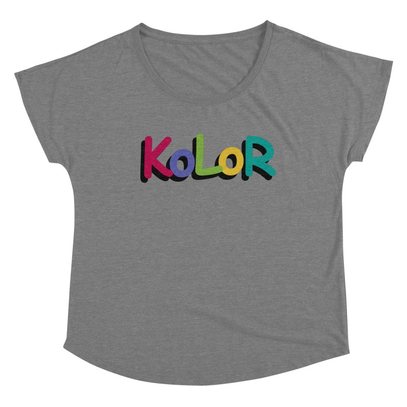 KoLoR Women's Scoop Neck by Kong Klothing