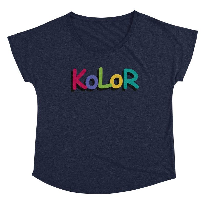 KoLoR Women's Scoop Neck by Kong Klothing