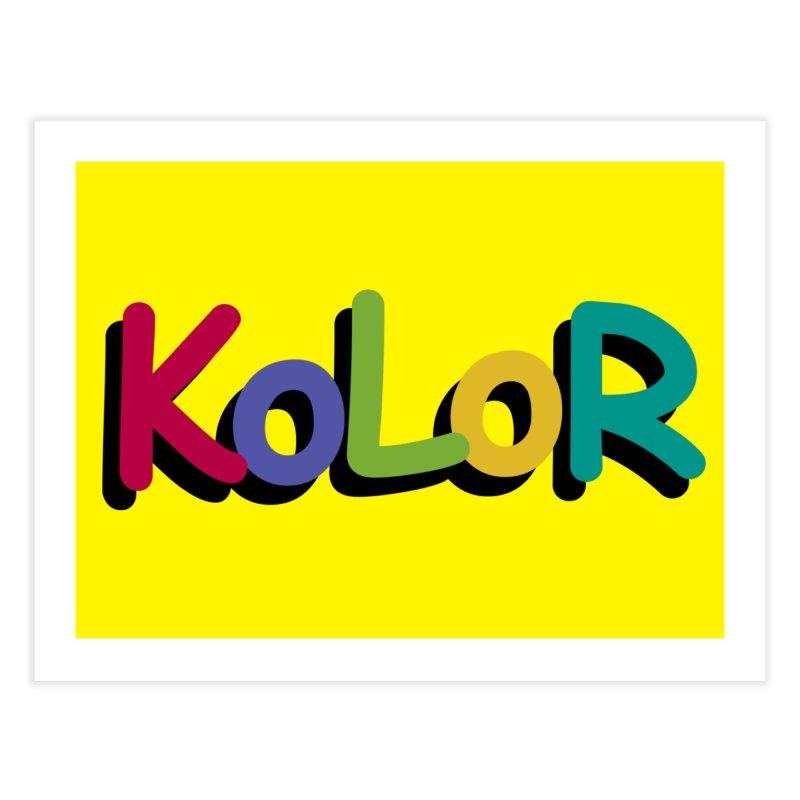 KoLoR Home Fine Art Print by Kong Klothing