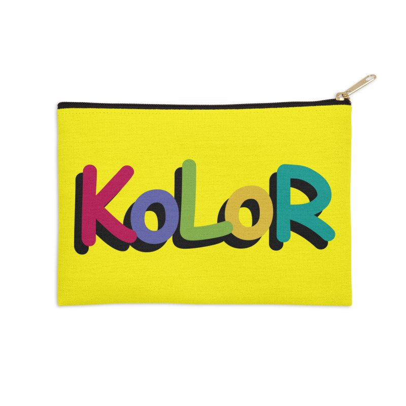 KoLoR Accessories Zip Pouch by Kong Klothing
