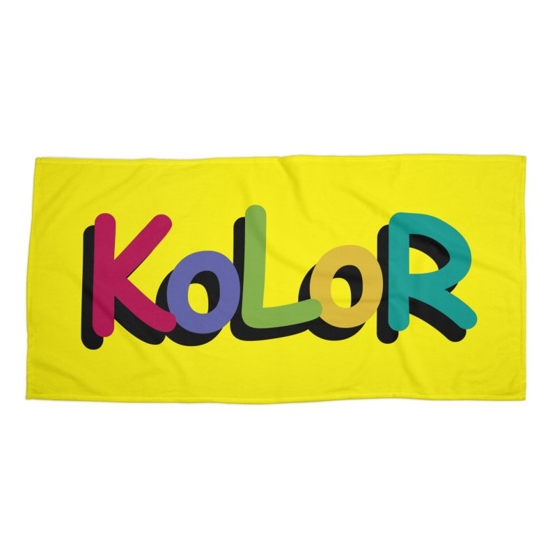 KoLoR Accessories Beach Towel by Kong Klothing