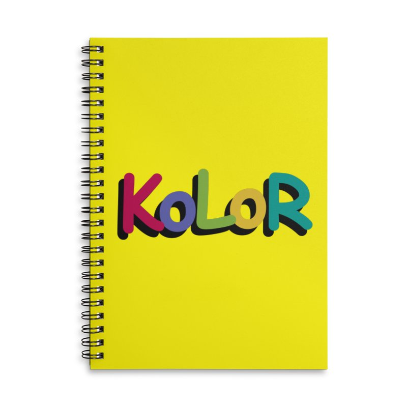 KoLoR Accessories Lined Spiral Notebook by Kong Klothing