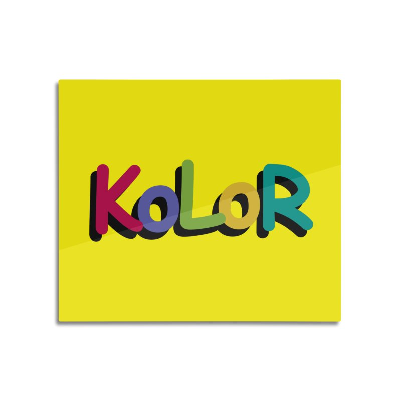 KoLoR Home Mounted Acrylic Print by Kong Klothing