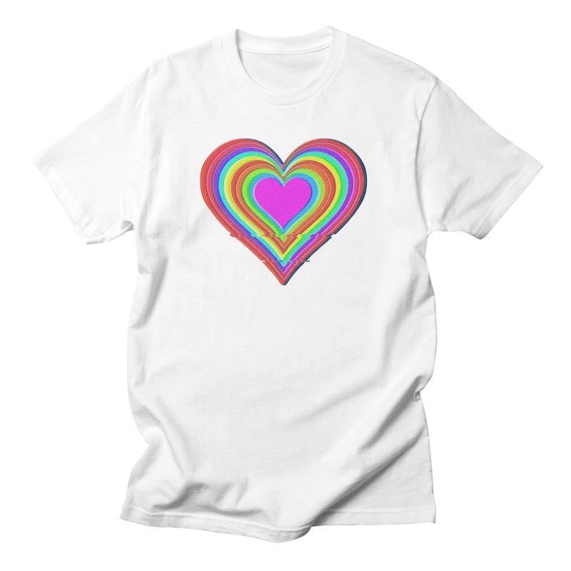 glitch.heart Men's T-Shirt by konthespacebear's Artist Shop