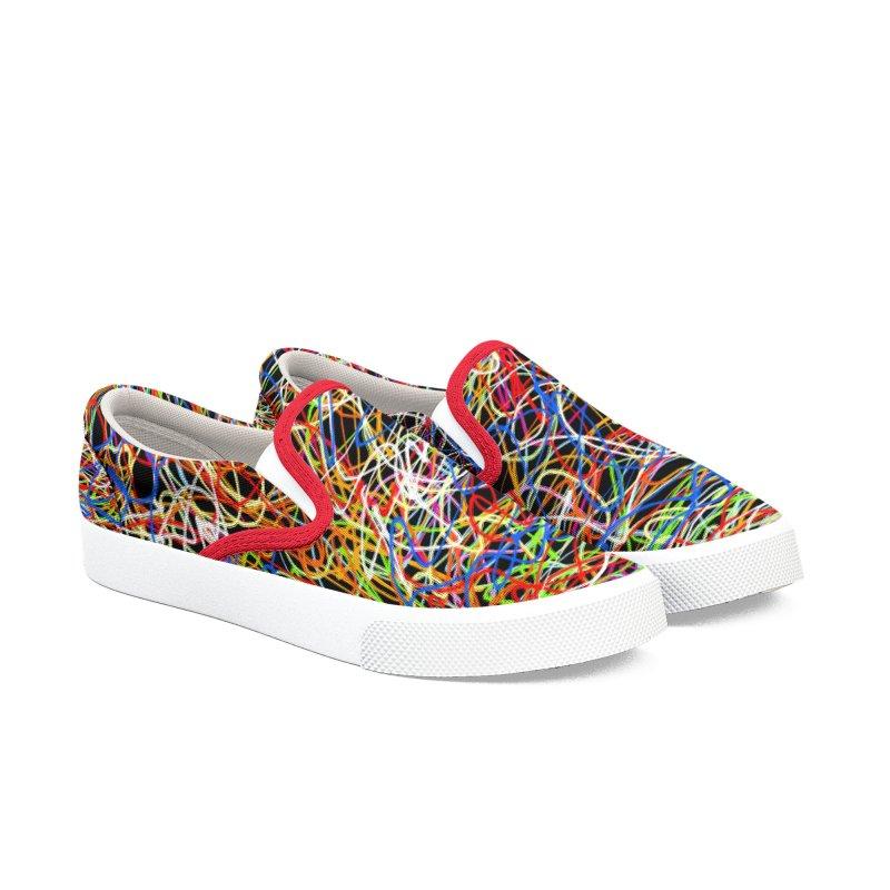 Wire Dilema Women's Slip-On Shoes by kooky love's Artist Shop
