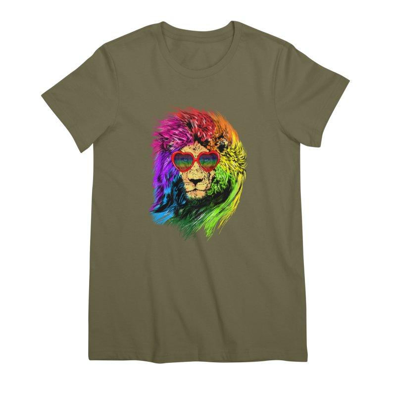 Pride Lion Women's Premium T-Shirt by kooky love's Artist Shop