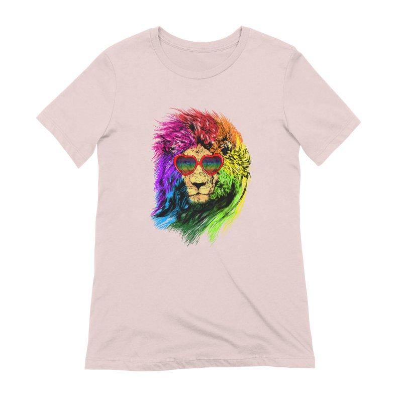 Pride Lion Women's Extra Soft T-Shirt by kooky love's Artist Shop