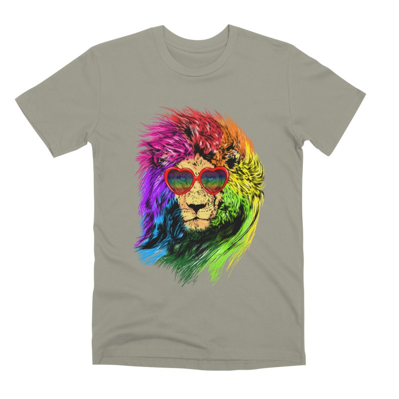 Pride Lion Men's Premium T-Shirt by kooky love's Artist Shop