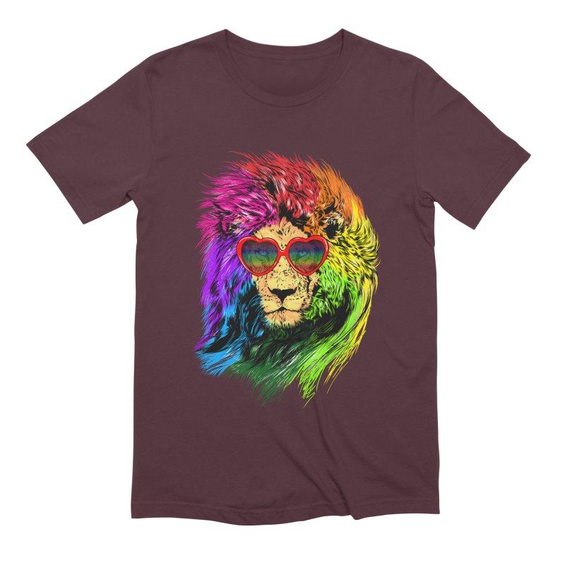 Pride Lion Men's Extra Soft T-Shirt by kooky love's Artist Shop