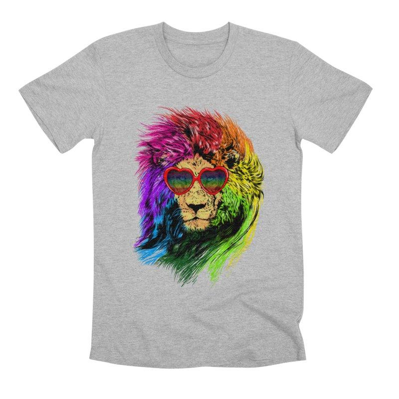 Pride Lion Men's Premium T-Shirt by kooky love's Artist Shop
