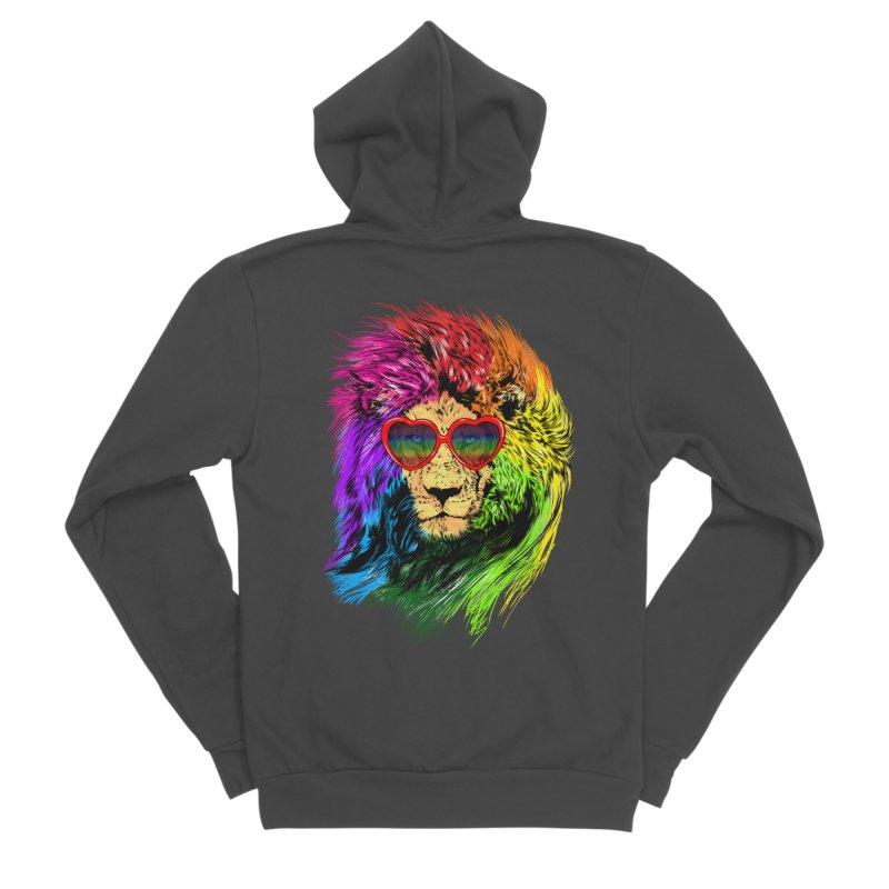 Pride Lion Men's Sponge Fleece Zip-Up Hoody by kooky love's Artist Shop