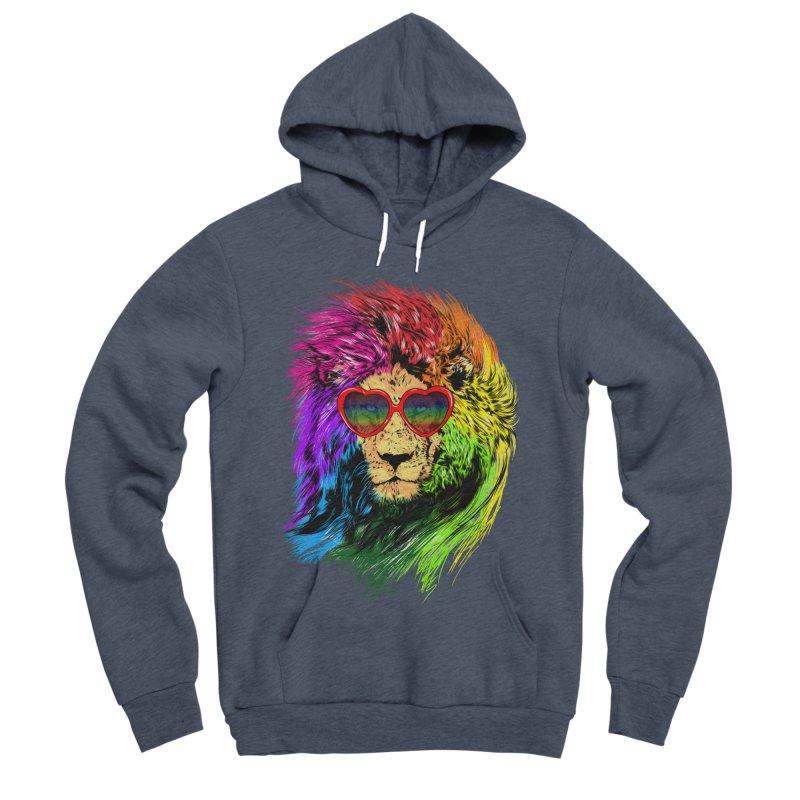 Pride Lion Women's Sponge Fleece Pullover Hoody by kooky love's Artist Shop