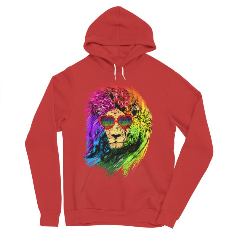 Pride Lion Men's Sponge Fleece Pullover Hoody by kooky love's Artist Shop
