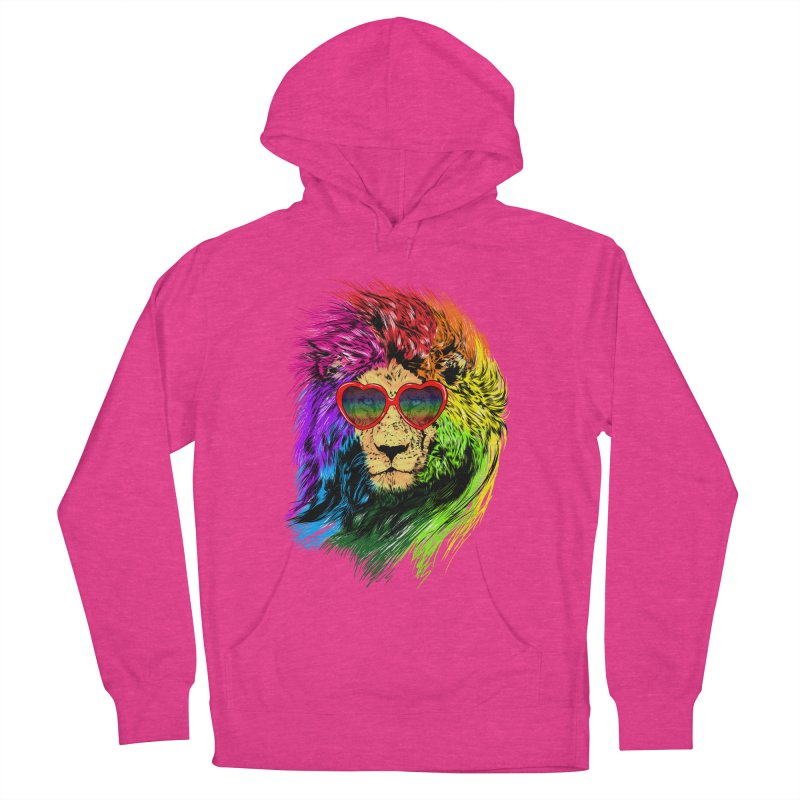 Pride Lion Women's French Terry Pullover Hoody by kooky love's Artist Shop