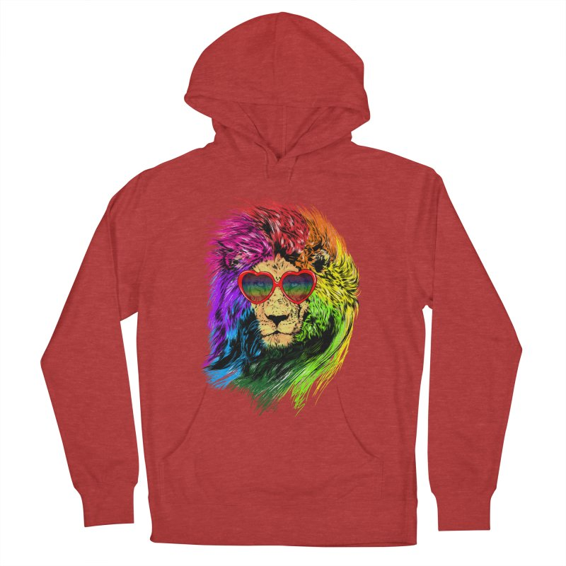 Pride Lion Men's French Terry Pullover Hoody by kooky love's Artist Shop