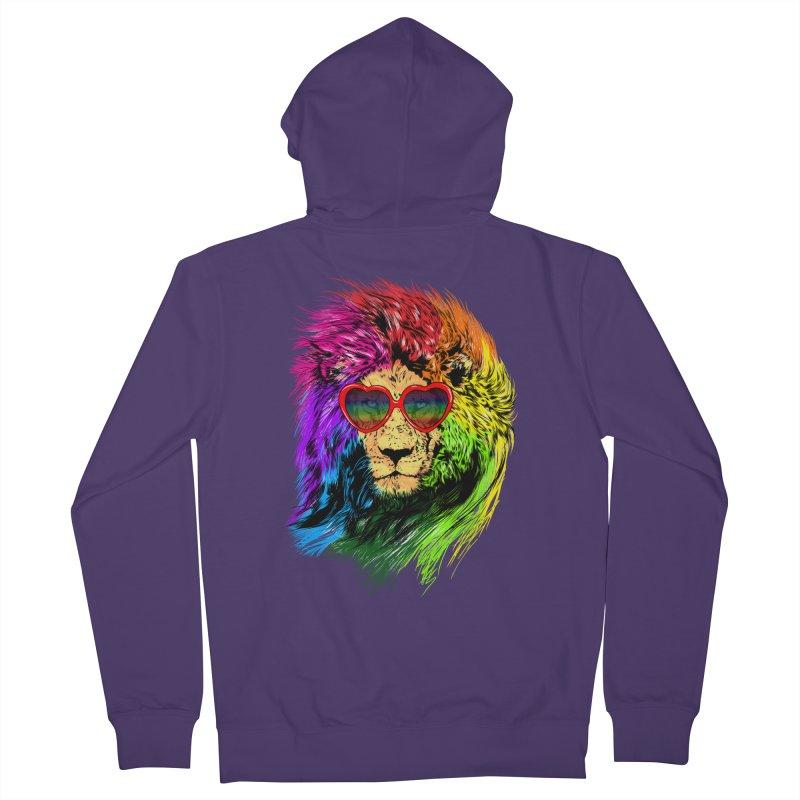 Pride Lion Women's French Terry Zip-Up Hoody by kooky love's Artist Shop