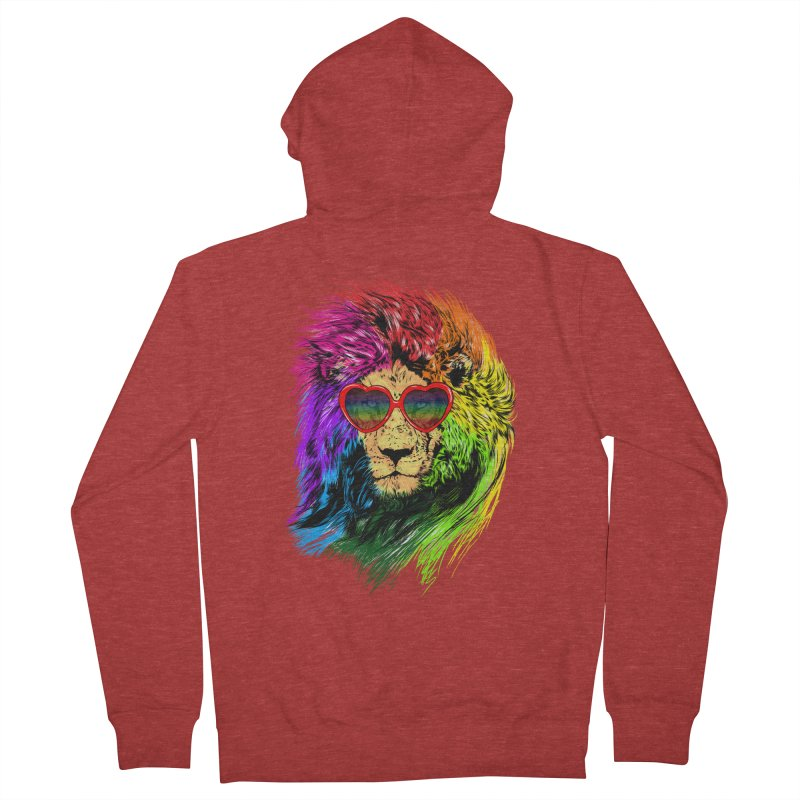 Pride Lion Men's French Terry Zip-Up Hoody by kooky love's Artist Shop