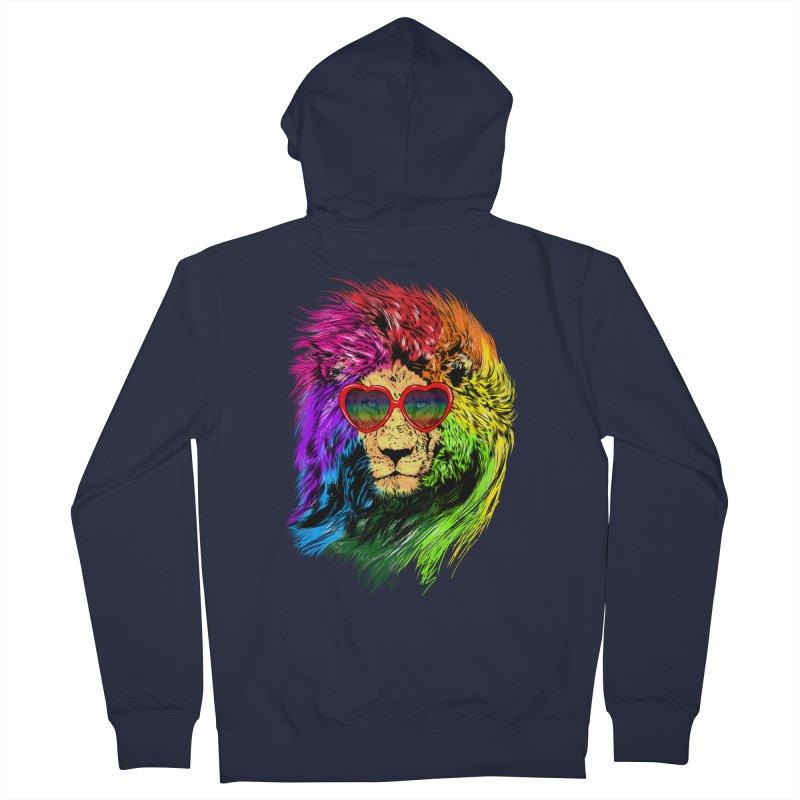 Pride Lion Men's French Terry Zip-Up Hoody by kooky love's Artist Shop