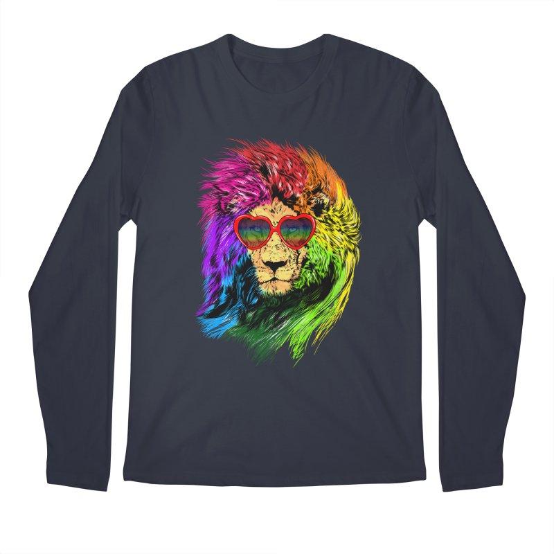 Pride Lion Men's Regular Longsleeve T-Shirt by kooky love's Artist Shop