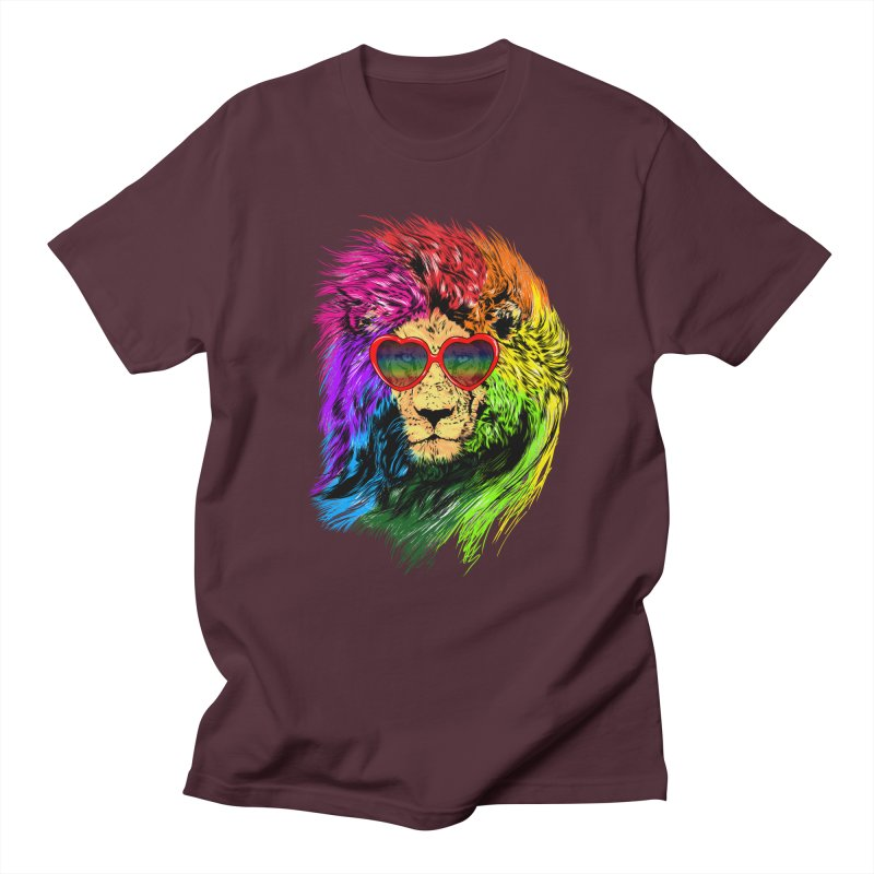 Pride Lion Men's Regular T-Shirt by kooky love's Artist Shop