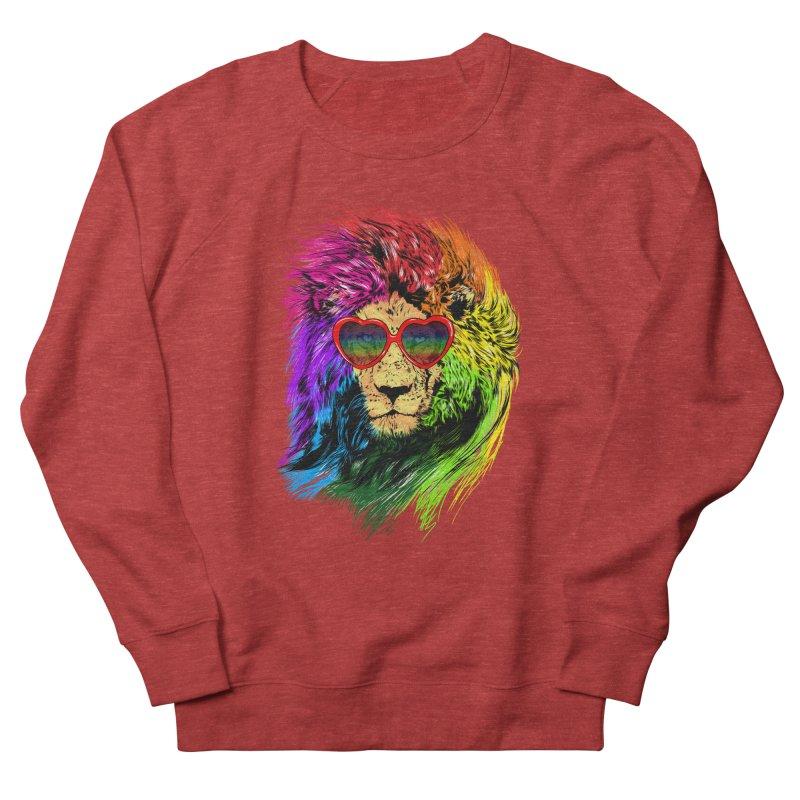 Pride Lion Women's French Terry Sweatshirt by kooky love's Artist Shop
