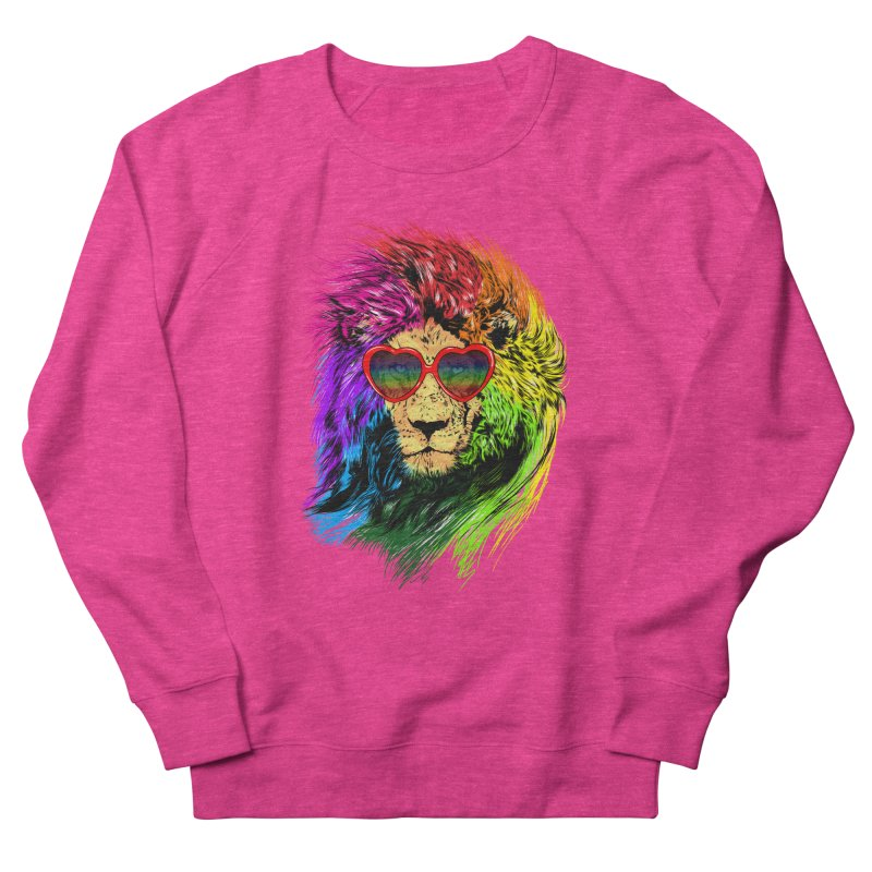 Pride Lion Women's French Terry Sweatshirt by kooky love's Artist Shop