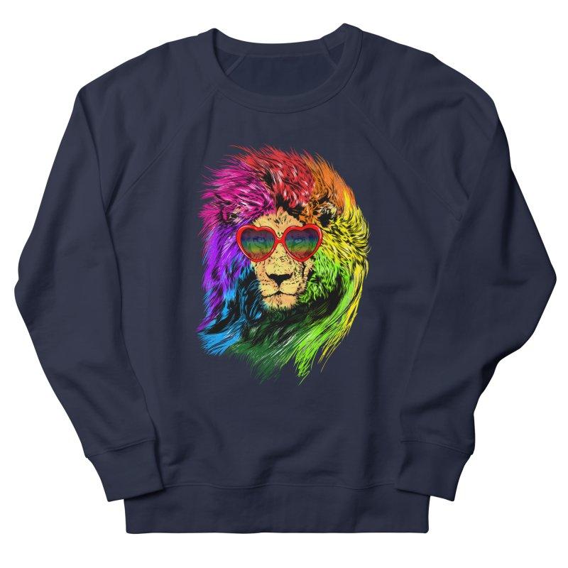 Pride Lion Men's French Terry Sweatshirt by kooky love's Artist Shop