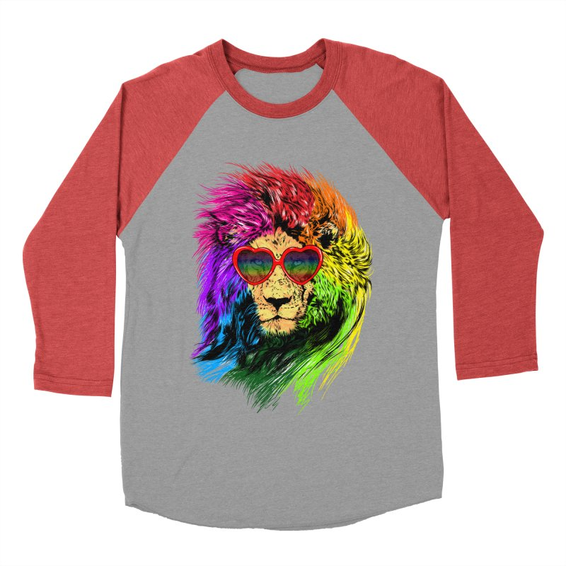 Pride Lion Women's Baseball Triblend Longsleeve T-Shirt by kooky love's Artist Shop