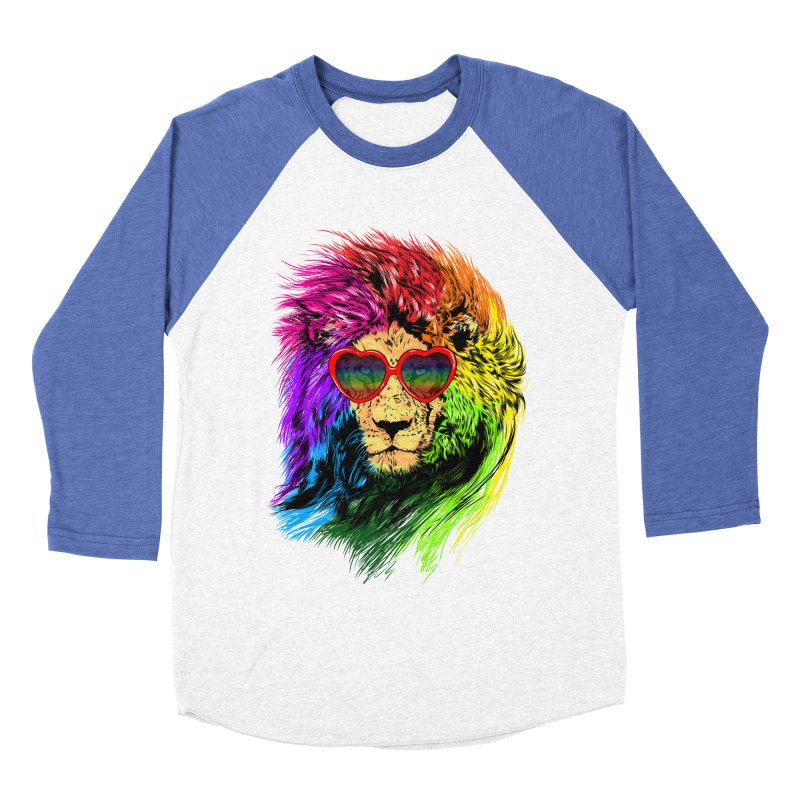 Pride Lion Men's Baseball Triblend Longsleeve T-Shirt by kooky love's Artist Shop