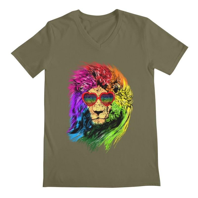 Pride Lion Men's Regular V-Neck by kooky love's Artist Shop