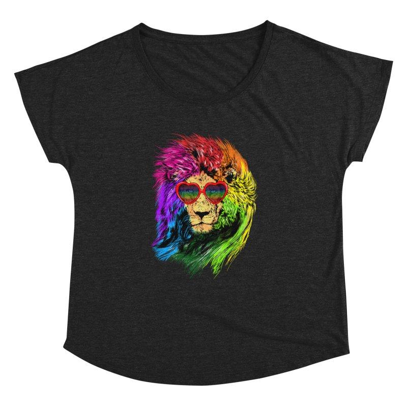 Pride Lion Women's Dolman Scoop Neck by kooky love's Artist Shop