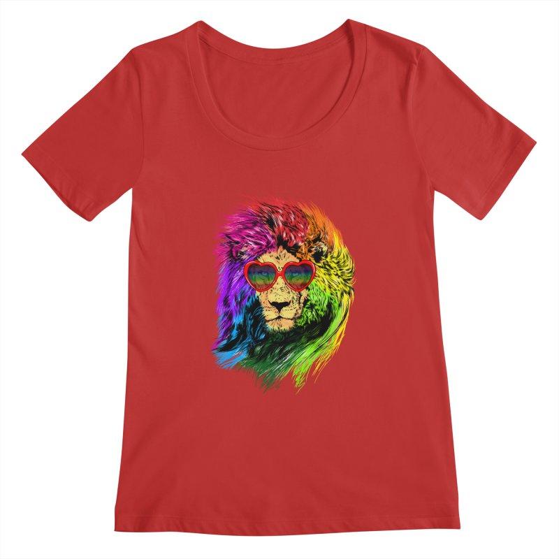 Pride Lion Women's Regular Scoop Neck by kooky love's Artist Shop