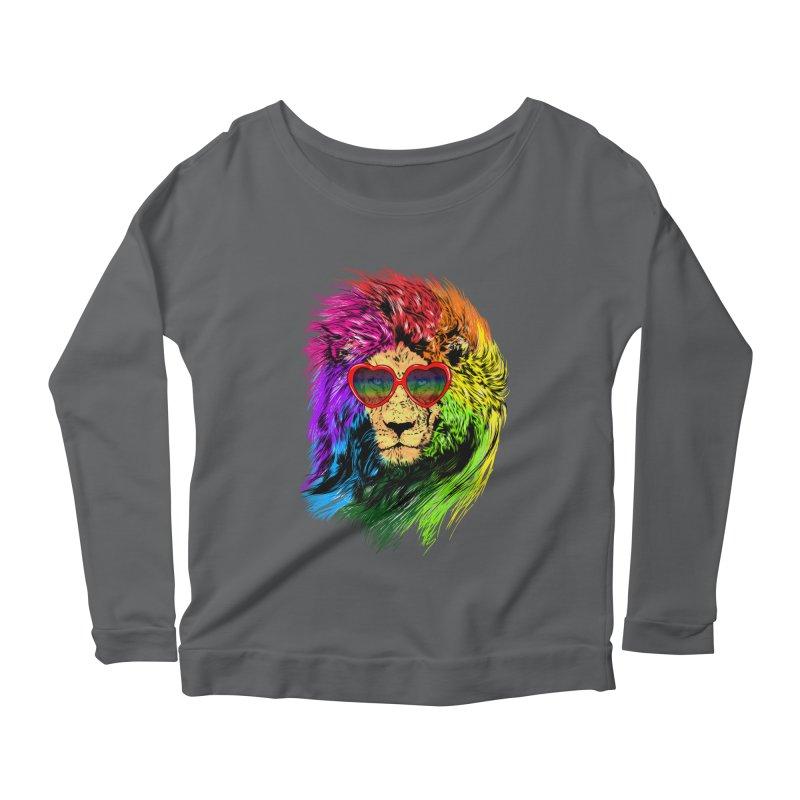 Pride Lion Women's Scoop Neck Longsleeve T-Shirt by kooky love's Artist Shop