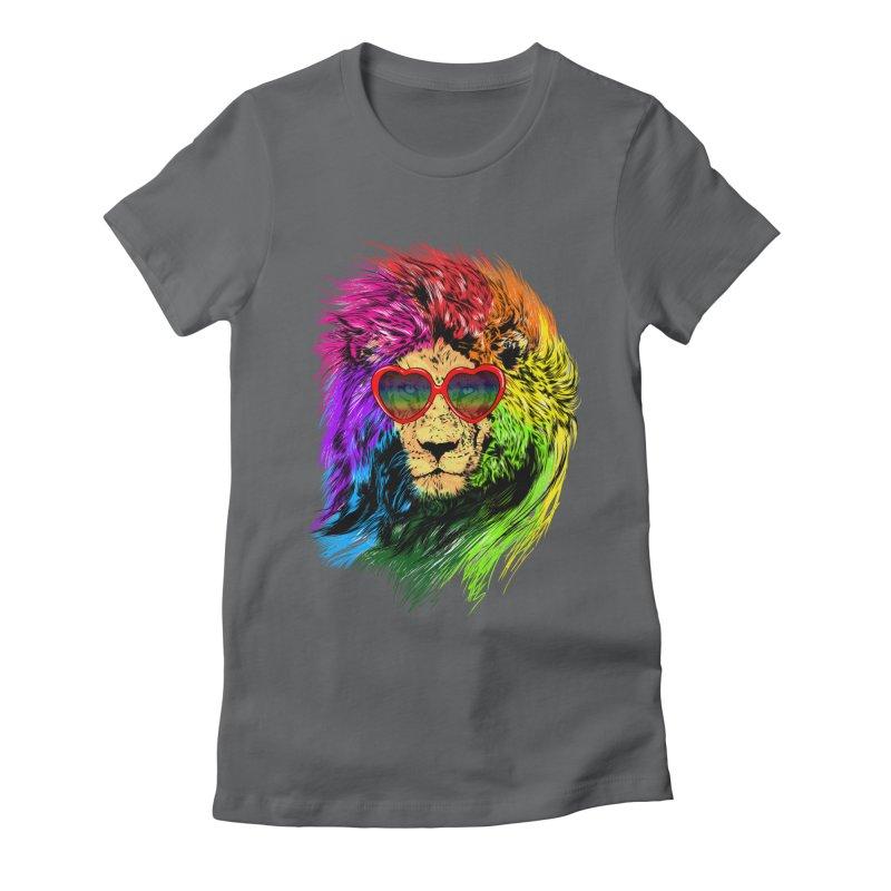Pride Lion Women's Fitted T-Shirt by kooky love's Artist Shop