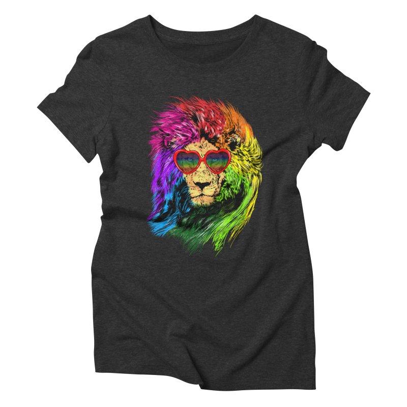 Pride Lion Women's Triblend T-Shirt by kooky love's Artist Shop