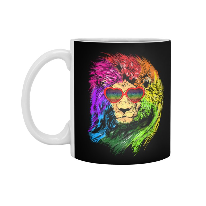 Pride Lion Accessories Standard Mug by kooky love's Artist Shop